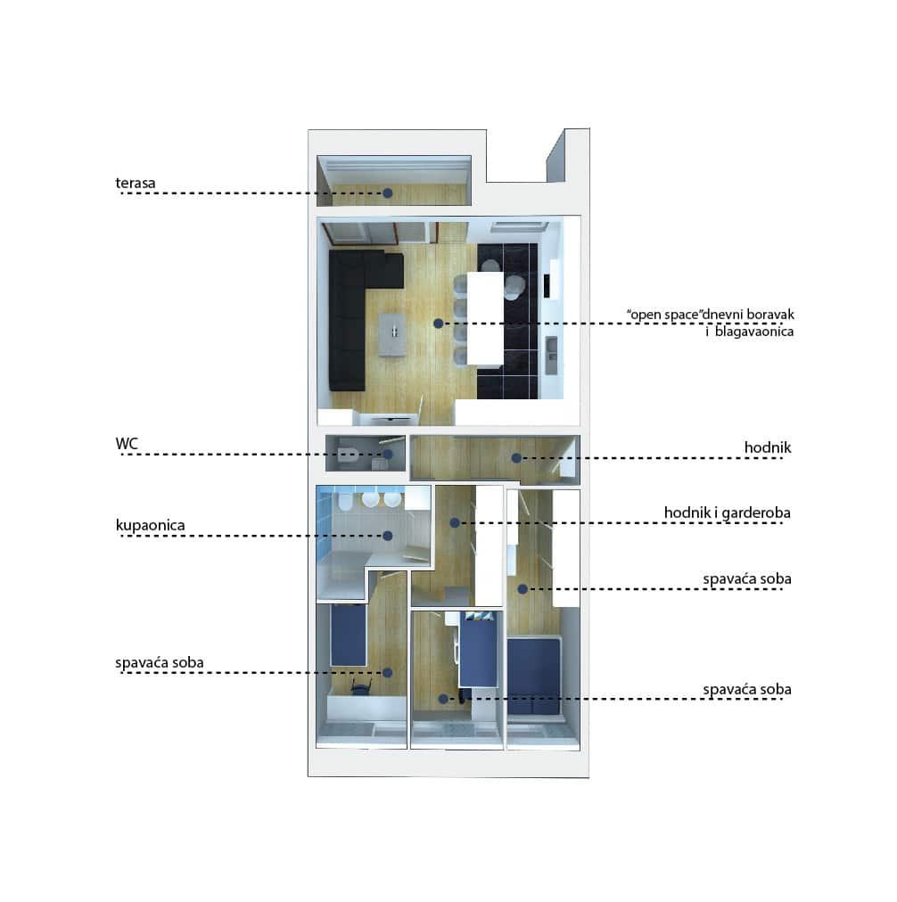 Odabrana varijanta 3D model